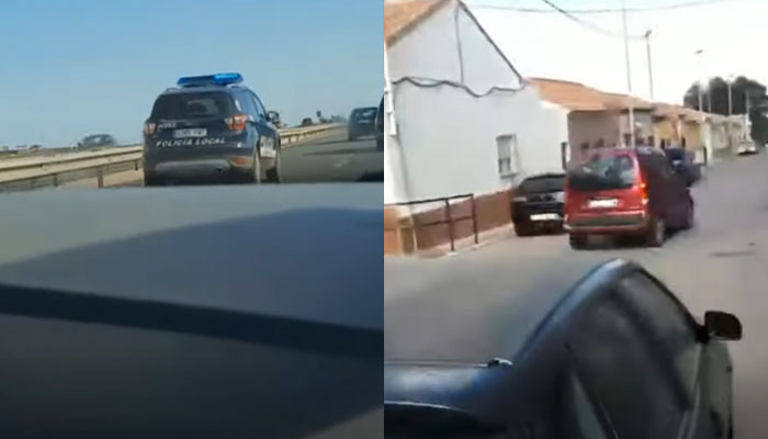 Persecución y detención de un kamikaze en Murcia que se saltó un control perimetral (Vídeo)