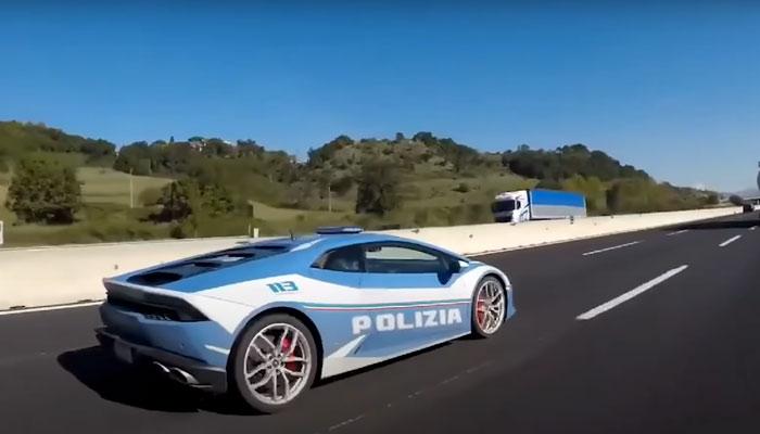 La policía italiana saca su Lamborghini Huracán para una misión especial