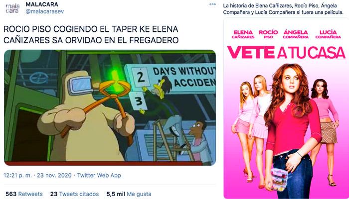 Los mejores memes del caso Elena Cañizares y sus compañeras de piso