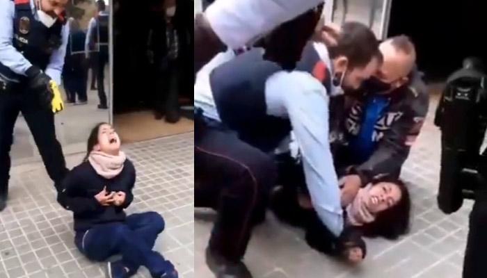 Los Mossos disparan a una joven con una pistola Taser en Sabadell a las puertas de un centro de salud