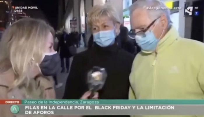 Esta mujer de Zaragoza dice en directo que tiene la solución al virus