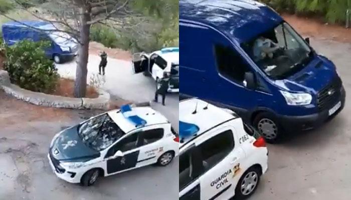 Persecución de película de la Guardia Civil en Alicante con tiros al aire y a las ruedas