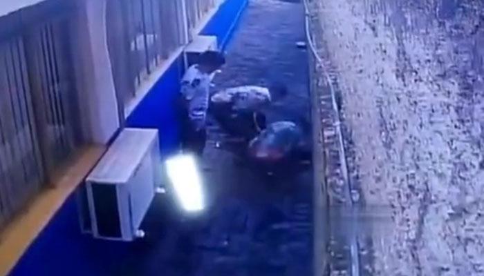 Doce presos escapan de una prisión de Brasil después de cavar un túnel. Este es el momento en el que salen al exterior