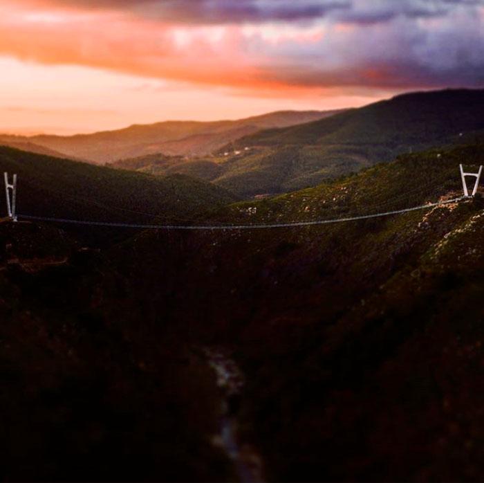 El puente peatonal en suspensión más largo del mundo está en Arouca, muy cerca de Oporto, en Portugal