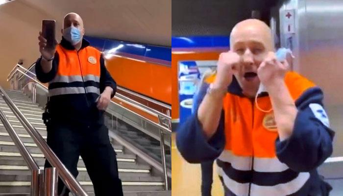 ''¡Ponte la mascarilla!'': el tenso enfrentamiento entre un vigilante y un usuario del Metro de Madrid