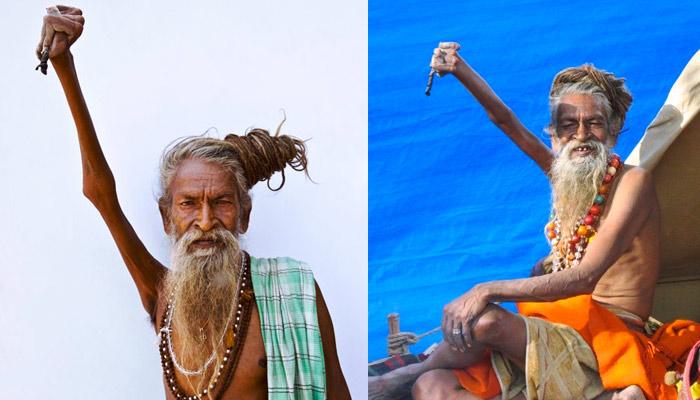 Este hombre lleva 47 años con el brazo levantado por la paz mundial
