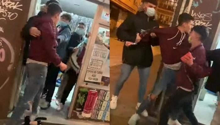 Un joven de Granada revienta de una patada el escaparate de una tienda tras negarse a usar la mascarilla