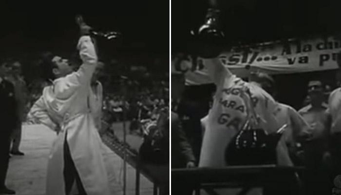 Aquellos concursos de beber vino donde los porrones eran de 16 litros y se bebían con una sola mano