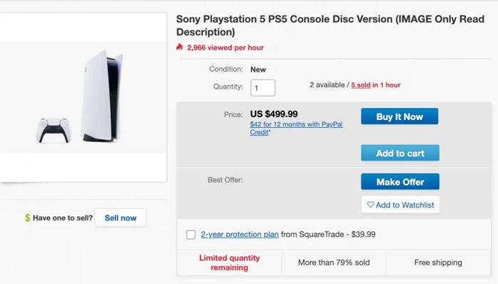 Héroe anónimo vende fotos de la PS5 en eBay para que las compren los bots especuladores