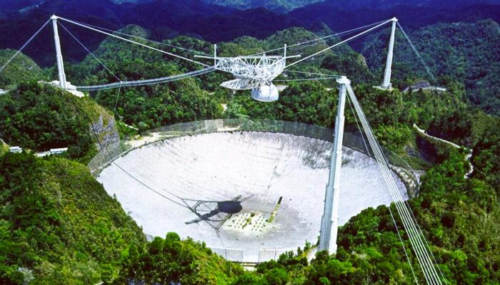 La destrucción del radiotelescopio de Arecibo en vídeo