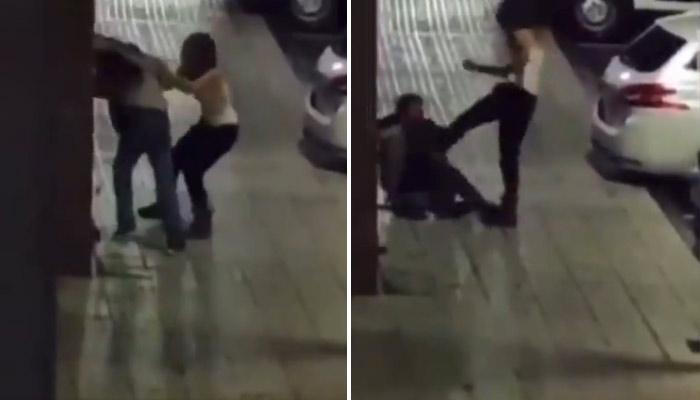 En busca y captura una mujer que agredió a un hombre a pie de calle en Bezana. Vídeo del momento