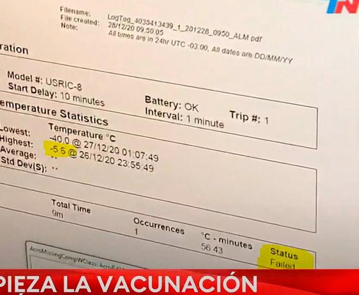Polémica por el dispositivo que controla el sistema que mantiene la cadena de frío de la vacuna Sputnik V en Tucumán