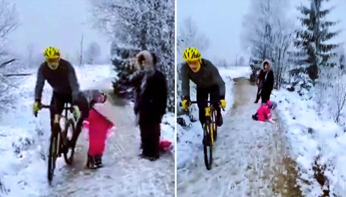 El ciclista que le metió un rodillazo en la espalda a una niña pequeña podría ser condenado a un año de cárcel