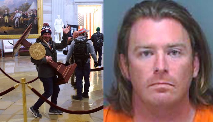 El asaltante que se llevó un atril del Capitolio ha sido detenido en Florida