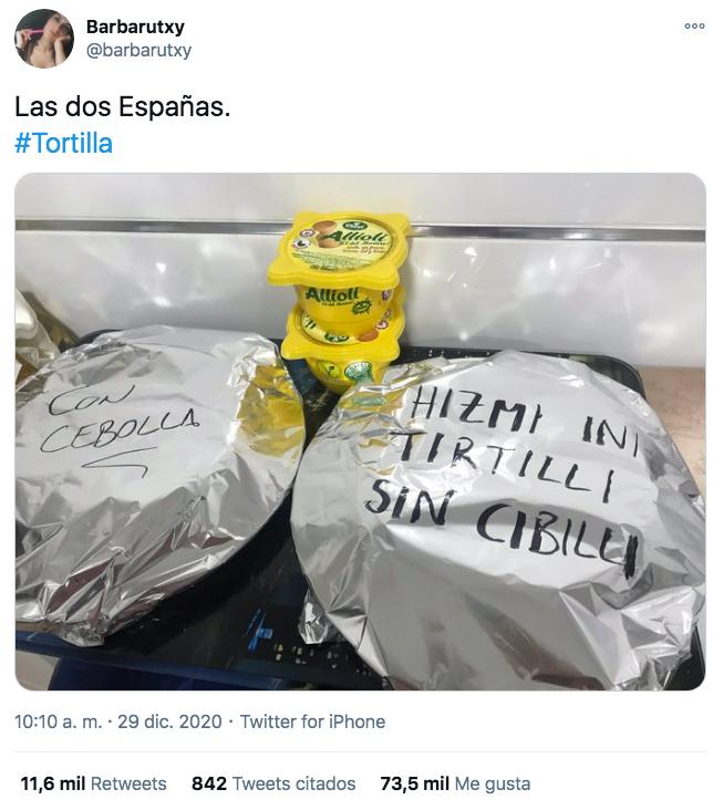 Las dos Españas. La tortilla de patata