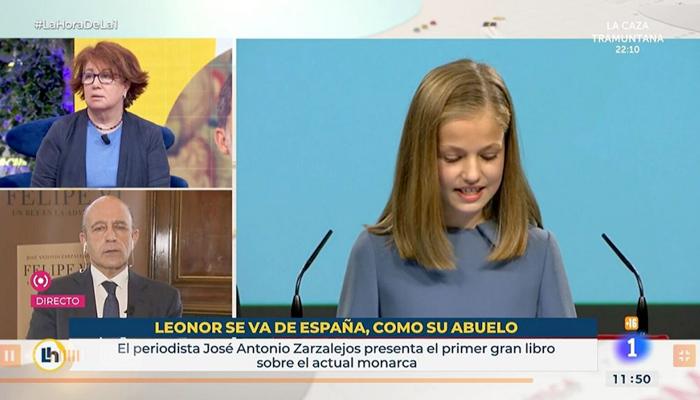 TVE despide fulminantemente a los responsables del polémico rótulo sobre la princesa Leonor: ''Se va de España, como su abuelo''