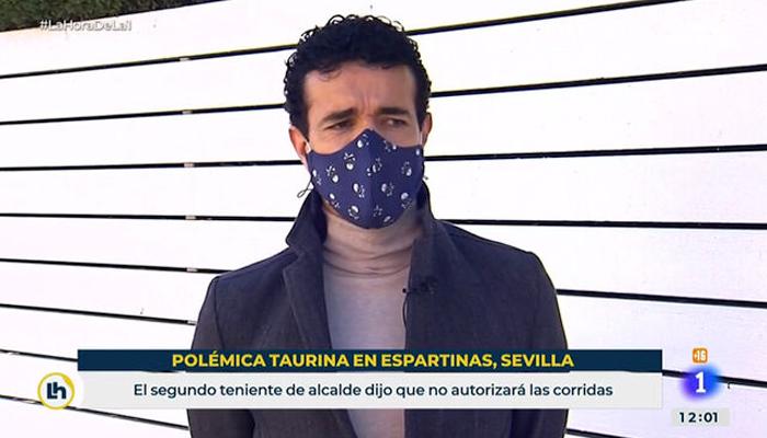 El torero Víctor Puerto compara en TVE prohibir los toros con prohibir la homosexualidad