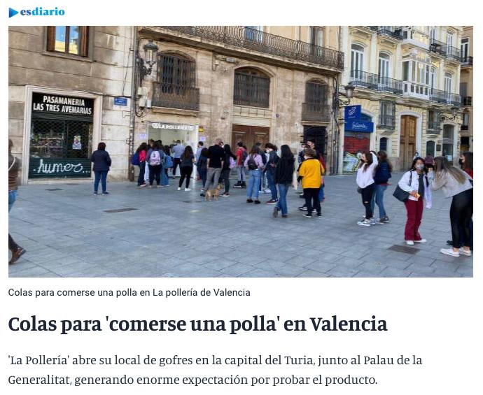 Noticia de última hora en Valencia...