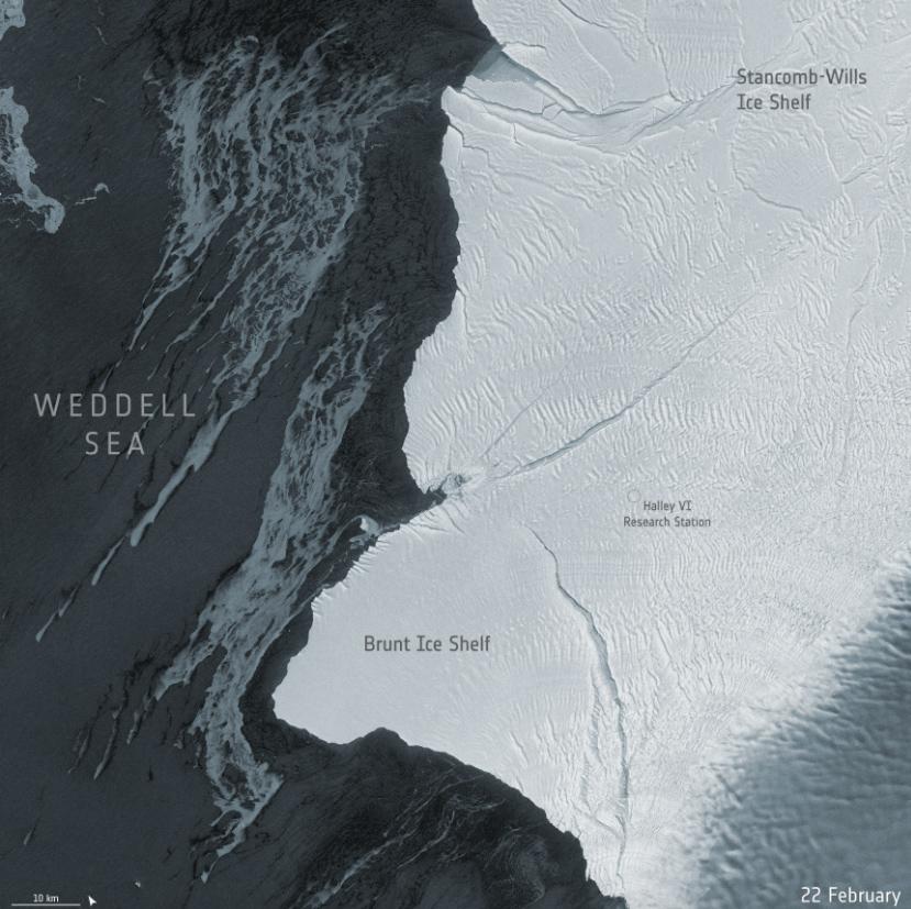 Imágenes de satélite captan el nuevo iceberg gigante A-74