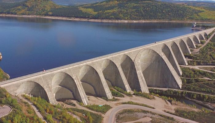 La presa Daniel-Johnson, una de las más grandes del mundo, a vista de dron