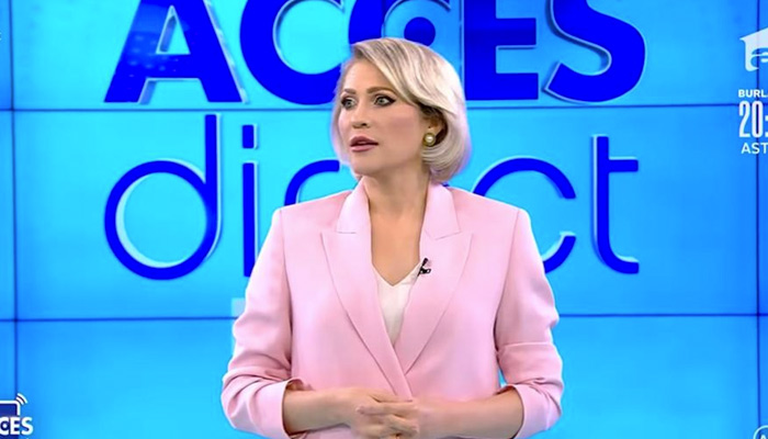 Mientras tanto, en Rumanía: Una mujer desnuda ataca en directo a una presentadora de televisión con una piedra