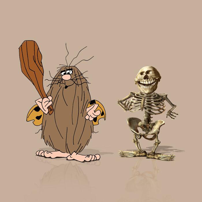 Cómo serían los esqueletos anatómicamente ''correctos'' de personajes de dibujos animados