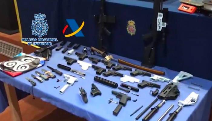 La Policía desmantela el primer taller ilegal de impresión de armas 3D en España
