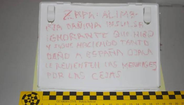 Correos intercepta una carta con dos balas de 38mm dirigida al expresidente Zapatero