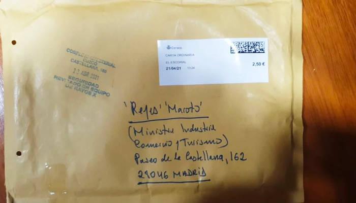La Policía identifica al autor del envío del sobre con una navaja en el interior a Reyes Maroto