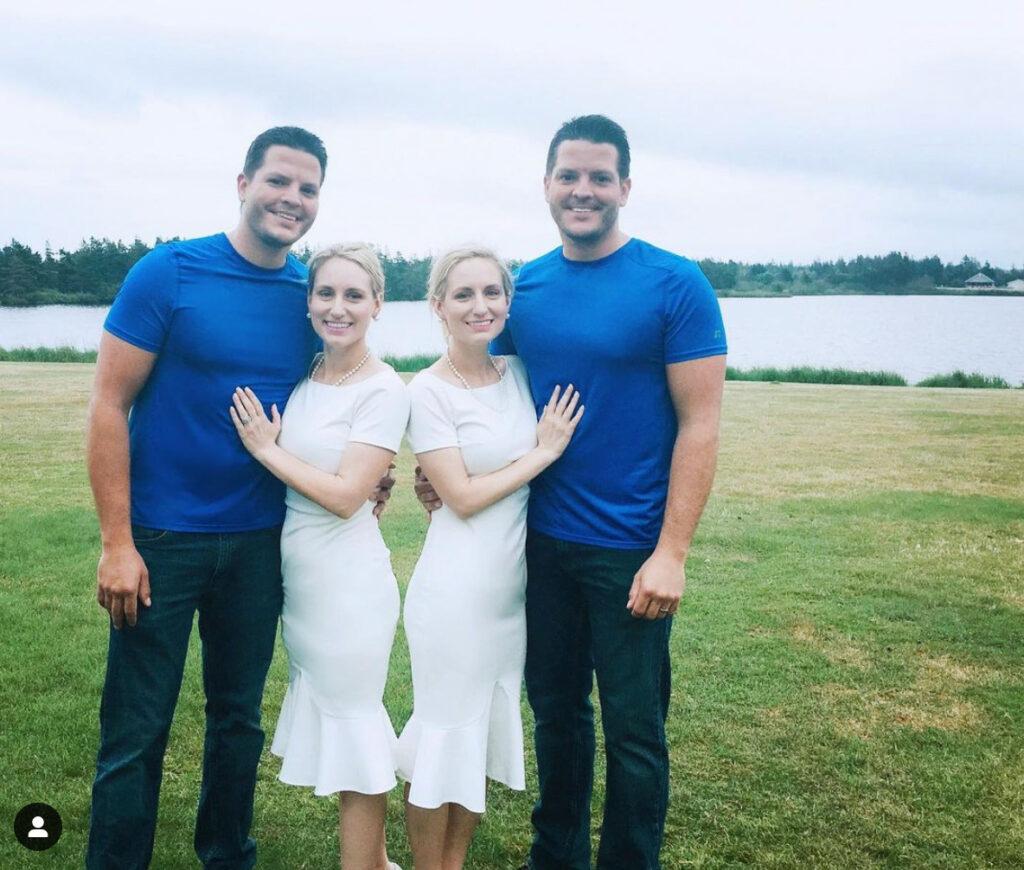 Dos hermanas gemelas idénticas se casaron con dos hermanos gemelos idénticos y se quedaron embarazadas a la vez