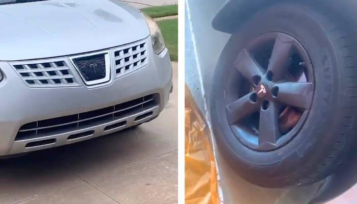 Convierte su Nissan Rogue de 2010 en un ''Tesla'' por 300 euros