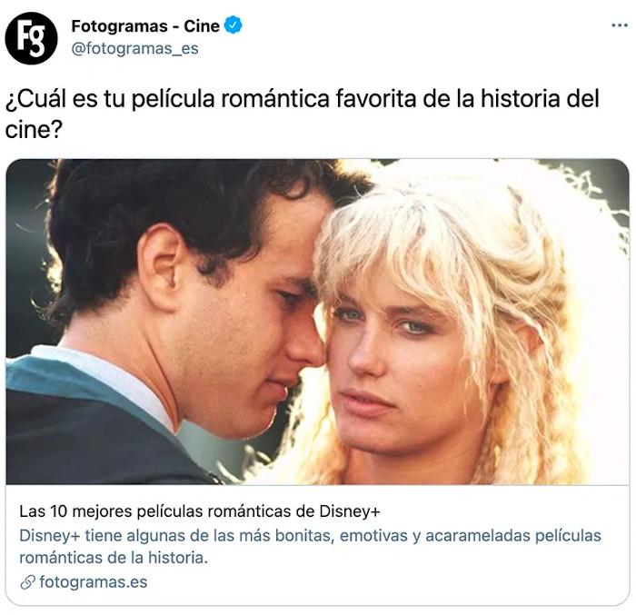 ¿Cuál es tu película romántica favorita de la historia del cine?