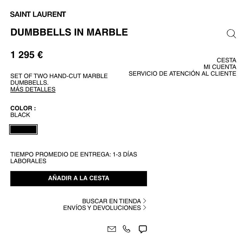 La marca de moda Yves Saint Laurent vende una mancuernas por 1.295 euros
