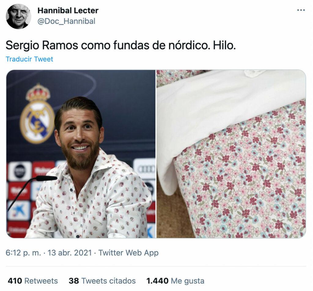 Sergio Ramos como fundas de nórdico...