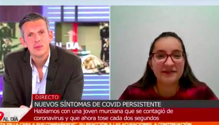 Verena García es una chica de 16 años que tiene covid persistente y tose cada dos segundos