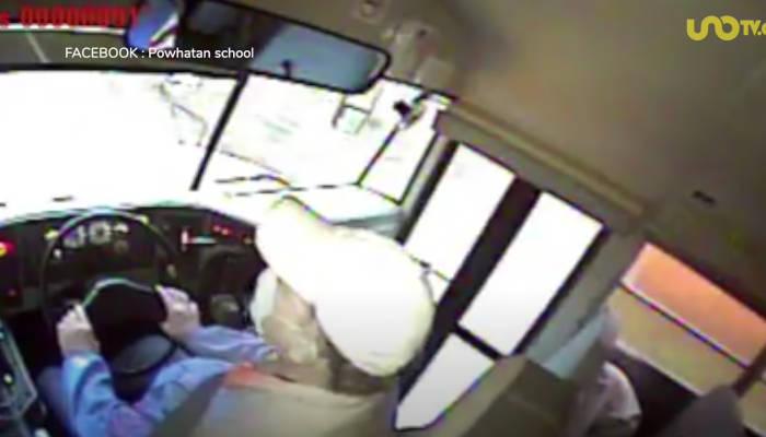 Un venado choca contra autobús escolar y cae sobre chaval dormido