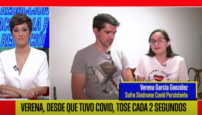 Entrevista a Verena García, la joven que desde que tuvo Covid-19 tose cada dos segundos