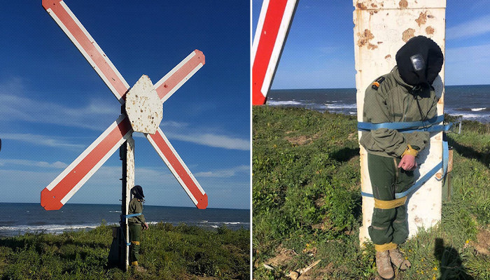 Atado a un poste como blanco bajo el fuego de aviones de combate: un piloto francés denuncia un ritual de novatadas