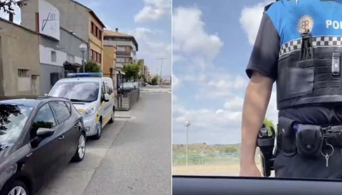 Huesca: Un conductor coloca su coche delante de un radar móvil y obliga a irse a los agentes