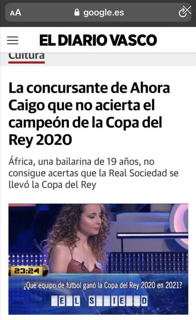 ''Me han hecho un titular pero me gustaría ver a un futbolista contestar preguntas sobre danza''