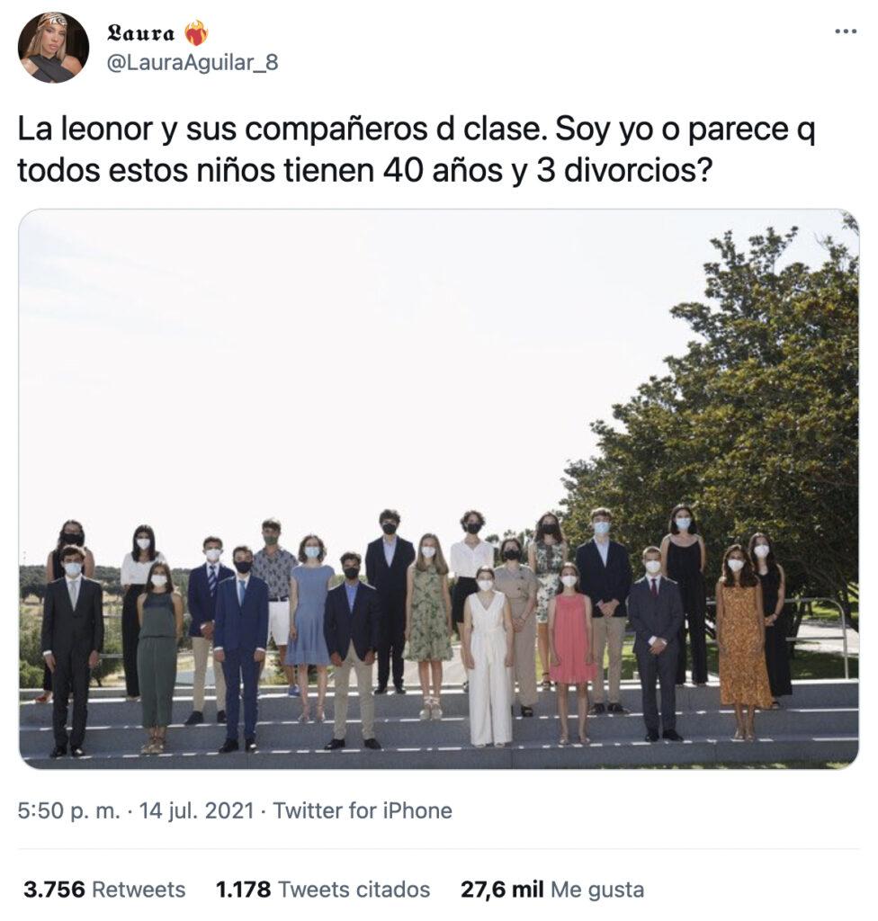 La princesa Leonor recibe en Zarzuela a sus futuros compañeros de colegio. ''¿Soy yo o parece que todos estos niños tienen 40 años y tres divorcios?''