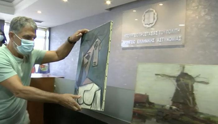 La policía griega recupera un Picasso robado hace 9 años y se les cae al suelo