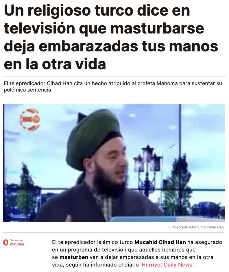 Ojo a las declaraciones de un religioso turco en un programa de televisión...