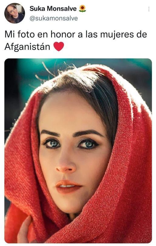 ''Mi foto en honor a las mujeres de Afganistán''