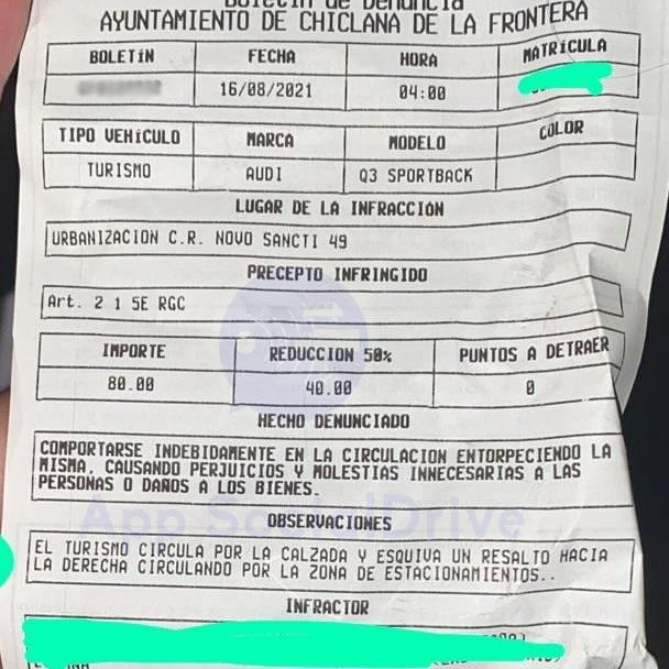 Chiclana de la Frontera, Cádiz: Multa por esquivar un resalto