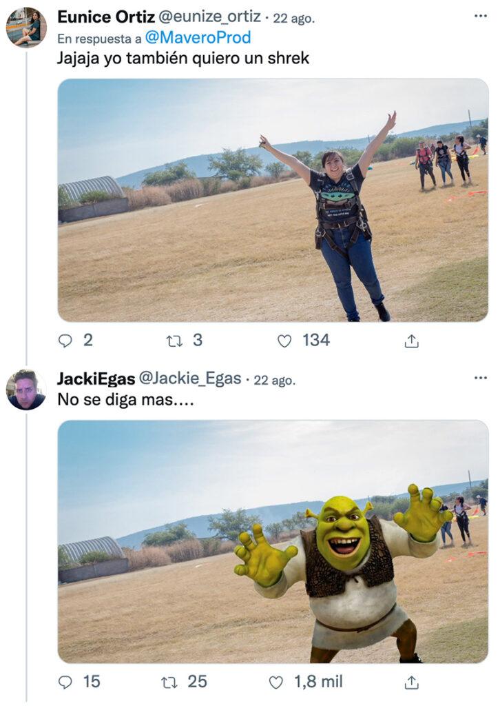 ''Le he editado una foto a mi prima, le he puesto un Shrek corriendo de fondo y la ha subido. Todo esto sin ella darse cuenta de que esta el Shrek''