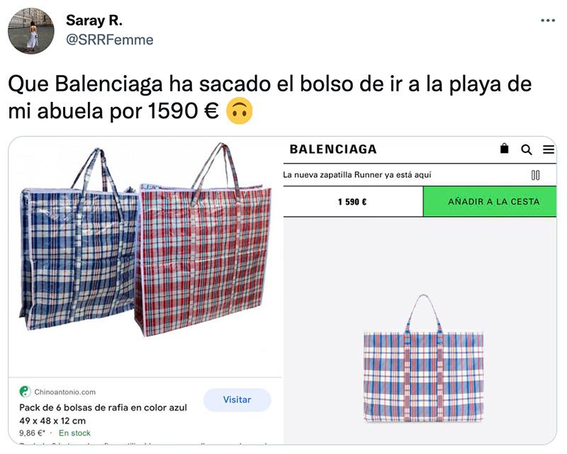 Balenciaga ha sacado el bolso de ir a la playa de mi abuela por 1.590 €