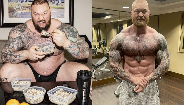 La transformación de Hafþór Björnsson (La Montaña) tras perder 50 kilos. Esta es la dieta que ha seguido