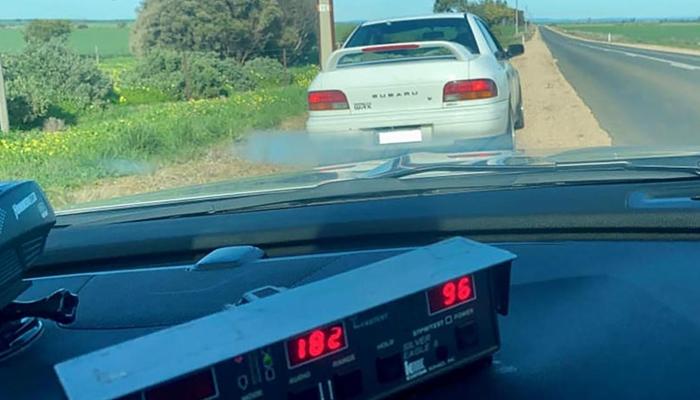 Cazado un conductor de 80 años a 182 km/h con un Subaru Impreza WRX