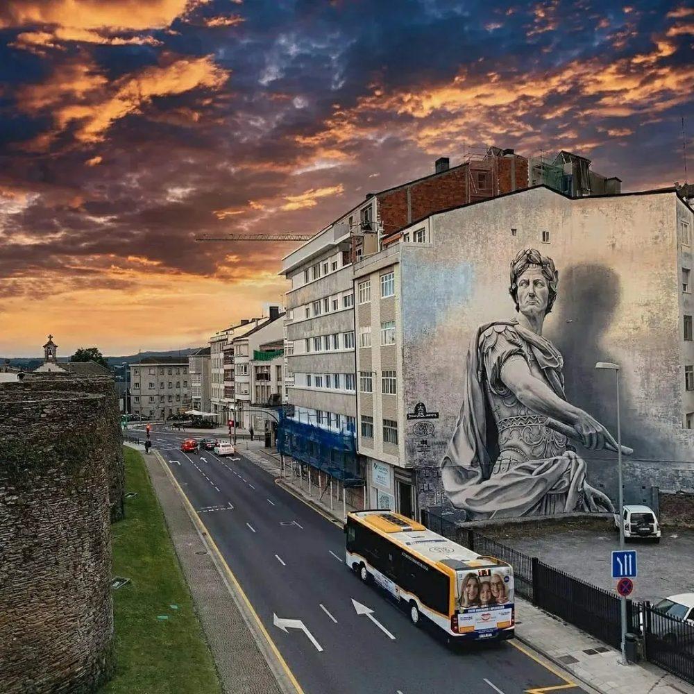 Lugo: El Julio César de Diego As, escogido el mejor graffiti del mundo en agosto